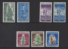 Italy 1950 - Various depictions - Michel 791/792, 796/797 and 802/804
