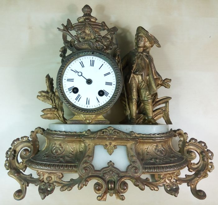 19th century bronze clock, Lay & Cherfils, Paris