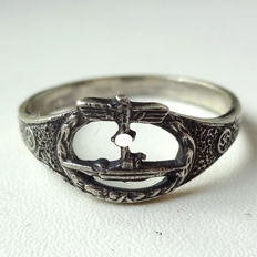 Commemorative Ring Made of 800 Silver Air Force WW2