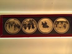 Glass plates for the Magic Lantern 19 x with Soldier
