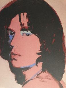 Mick Jagger - Lithograph by Andy Warhol - Numbered with Plate signed