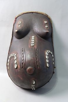 African Female Belly Mask - MAKONDE - Tanzania