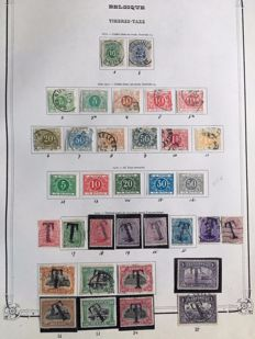 Belgium 1870/1971 - Back of the book selection with i.a. postage due, express, airmail, official stamps and train stamps
