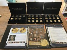 "The Netherlands - collection of medals, ""Gouden Florijnen can Oranje-Nassau"" - 31 medals - bronze, gold-plated"