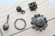 Medieval siver jewelry- 11-22 mm