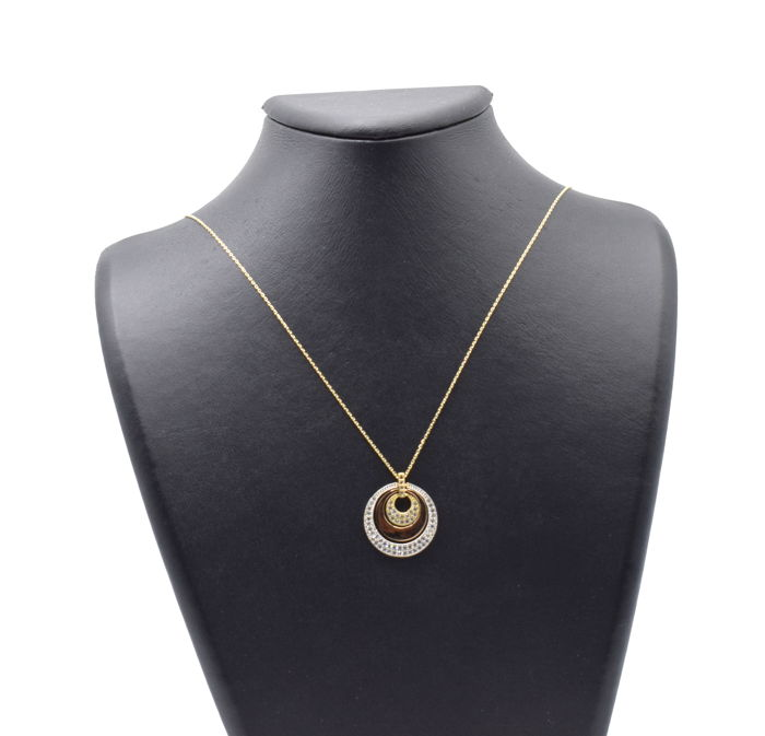 14 carat yellow gold chain with Pendant - 50 cm