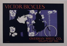 Will Bradley - Victor Bicycles - Original lithograph poster from the 'Les Maitres de L'affiche' series