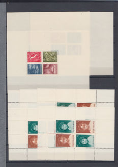 Suriname 1955/1975 - Stock of blocks in small sheets in stock book