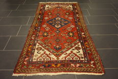 Unique Persian carpet, Malayer, Hamadan, runner, top wool, natural dyes, made in Iran, 110 x 200 cm