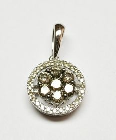 A 14k gold New Ladies Pendant with Brilliant cut Diamonds total 0.59 ct   -No Reserve Price