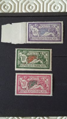 France 1925/1926 - Type Merson - Yvert 206, 207, 208