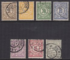The Netherlands 1884 - Postal order stamps - NVPH PW1/PW7.