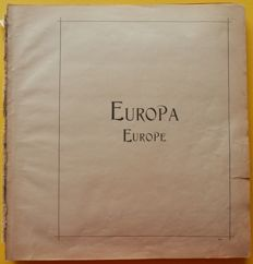 Europa 1850's/1910's - Collection on old Schaubek pages