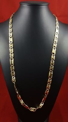 Necklace made of 18 kt yellow gold links No reserve price