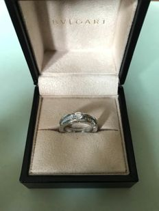 Bulgari B. ZERO 1 - White gold ring with diamonds - size 16 (IT)