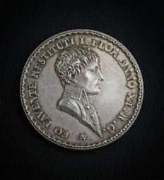 France - Token 'Napoleon I / Agents de Change de Lyon' 1803 by Mercié - Silver