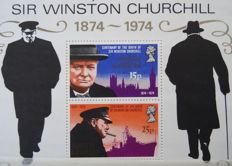 World - Collection with many Churchill topicals in stock book