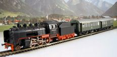Fleischmann H0 – 1350/5090/5091 - steam locomotive with tender Series BR 24 and two passenger carriages of the DB