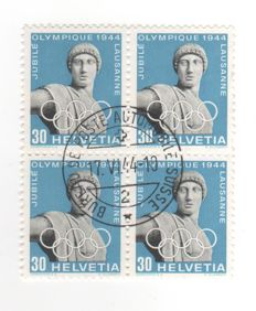 Switzerland 1944 - block of 4 Apollo, open eye - Zumstein 261w.3.01