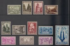 Belgium 1933 - Large Orval OBP 363/374