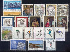 San Marino 1980/1989 - collection of 10 complete years
