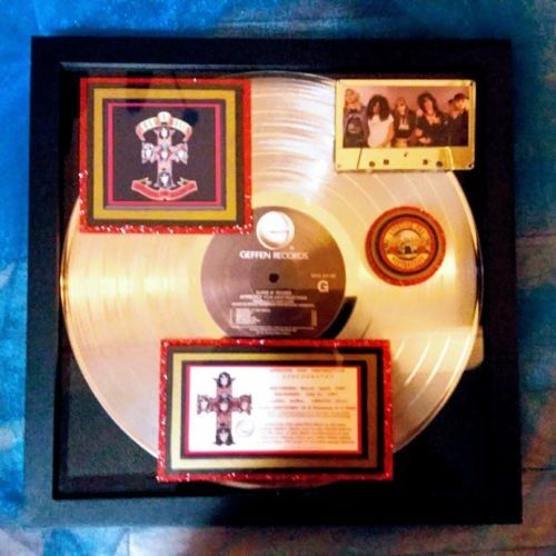 Guns N' Roses Appetite For Destruction Platinum Award 18-Million Certified