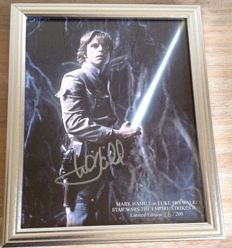 Star Wars The Empire Strikes Back - signed official 8x10 photo - autograph from Mark Hamill as Luke Skywalker - limited edition nr 88 of 200