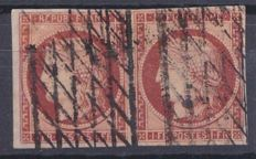 France 1849 – Yvert 6 in pair