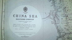 Lot with ten nautical charts covering waters around the world - 1944/1956