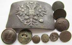 Ten  uniform objects of Russia, Austria-Hungary, Poland.