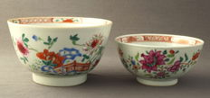 Famille rose bowls - China - 18th century