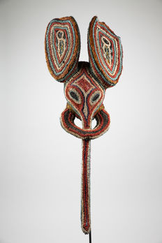 Beaded elephant mask - BABANKI - Cameroon