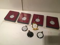 Lot with 8 pocket watches