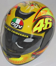 Valentino Rossi AGV Kinetic 2002 Full Size Moto GP Helmet Hand Signed by  Valentino Rossi with 3a14942ab