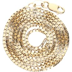 14 kt - Yellow gold Venetian link necklace - length 48.5 cm