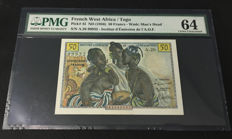 French West Africa - Togo - 50 Francs 1956 - Pick 45