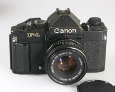 Canon F-1 new met FD 1.8.50 mm