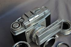 Agfa Ambi Silette first model with three lenses and proximeter 2