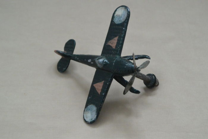 Fokker pewter ornament and a Fokker fighter aircraft
