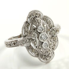 14kt White Gold Ring Set With 0.50 ct Natural Diamonds - 8