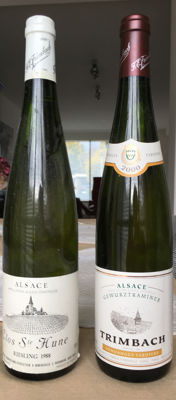 Trimbach: 2000 Gewurztraminer Vendanges Tardives & 1998 Riesling Clos St Hune - 2 bottles in total