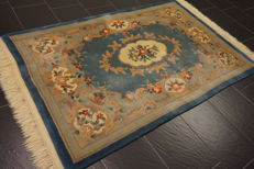 Magnificent China Art Deco Aubusson oriental carpet, made in China, 120 x 200 cm, silk shine, very good condition