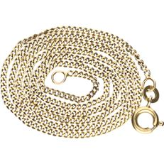 BLGG 8 kt - Yellow gold curb link necklace - length: 38 cm