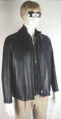 Burberry London - Black Lambskin Jacket with Padded Waistcoat
