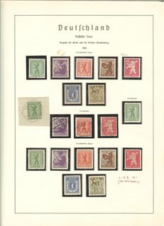 Soviet Zone - 1945-1949 - advanced collection on album pages with Michel 1-7 B and block 3 A/B