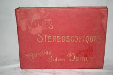 Antique Album Julien Damoy vues sterescopiques complet with 304 postcards