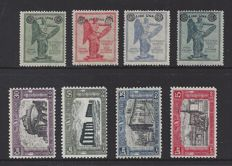 Italy 1928 - Overprint and Buildings - Sass. nos. 158/161 and 220/223
