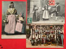 "France - selection of 53 postcards on the theme of ""folklore of the South West"" 1900 / 1925"