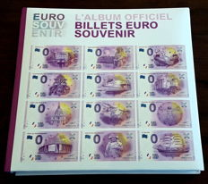 Miscellaneous - France - Collection of 108 banknotes of €0 Souvenir - Year 2016 - Luxury album