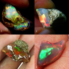 Nice Collection of four very beautiful Opals - 31,35 ct (4)